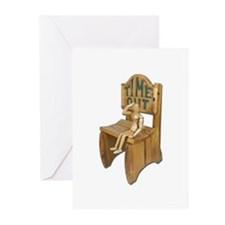 Sitting Timeout Chair Greeting Cards (Pk of 10)