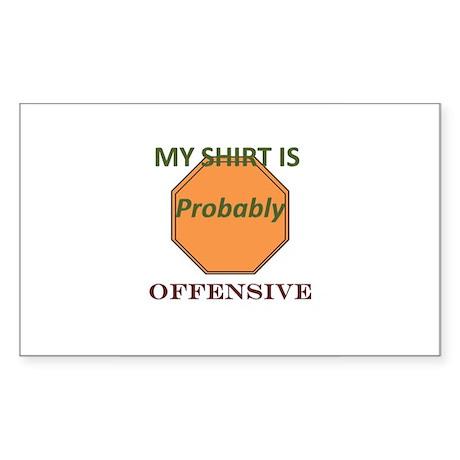 Offensive t-shirt Sticker (Rectangle)