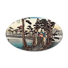 Yoshiwara - Hiroshige Ando - 1833.tif Wall Decal
