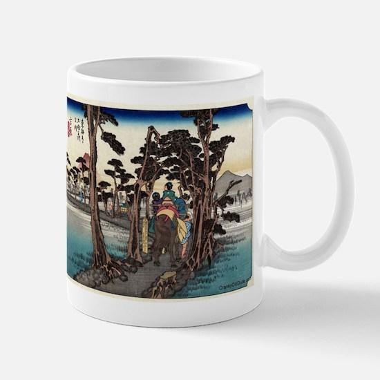 Yoshiwara - Hiroshige Ando - 1833.tif Mugs
