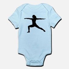 Yoga Warrior 2 Pose Infant Bodysuit