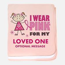 Custom Wear Pink baby blanket