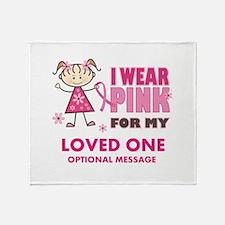 Custom Wear Pink Throw Blanket
