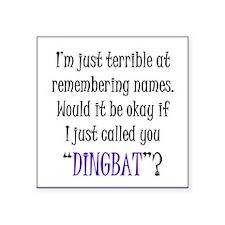 "Dingbat Square Sticker 3"" x 3"""