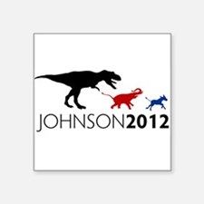 "Gary Johnson 2012 Revolution Square Sticker 3"" x 3"