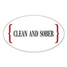 Clean and Sober Oval Decal