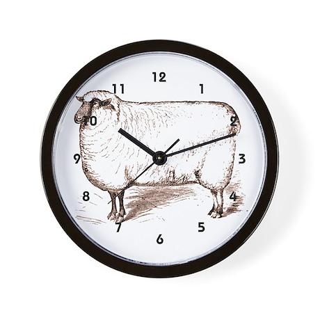 Victorian Lamb Wall Clock