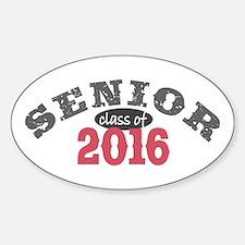 Senior Class of 2016 Sticker (Oval)
