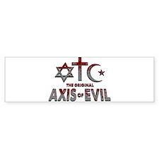 Original Axis of Evil Bumper Sticker