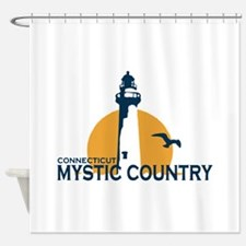 Mystic CT - Lighthouse Design. Shower Curtain