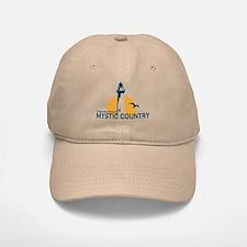 Mystic CT - Lighthouse Design. Baseball Baseball Cap