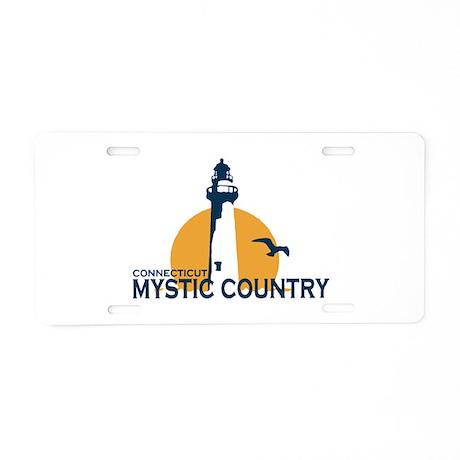 Mystic CT - Lighthouse Design. Aluminum License Pl