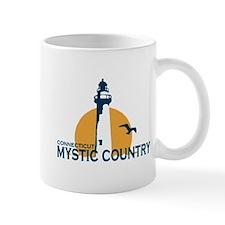 Mystic CT - Lighthouse Design. Mug
