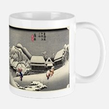 Kanbara - Hiroshige Ando - 1833 - woodcut Mugs