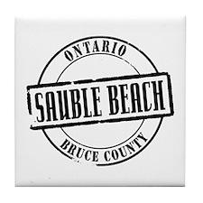 Sauble Beach Title Tile Coaster