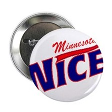 "Minnesota Nice Tshirt 2.25"" Button"