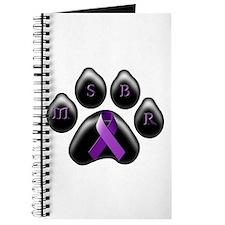 MSBR paw purple ribbon Journal
