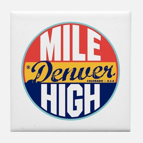 Denver Vintage Label Tile Coaster