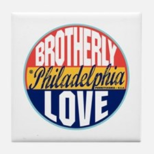 Philadelphia Vintage Label Tile Coaster