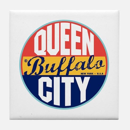 Buffalo Vintage Label Tile Coaster