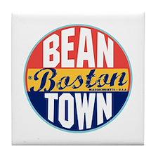Boston Vintage Label Tile Coaster