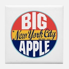 New York Vintage Label Tile Coaster