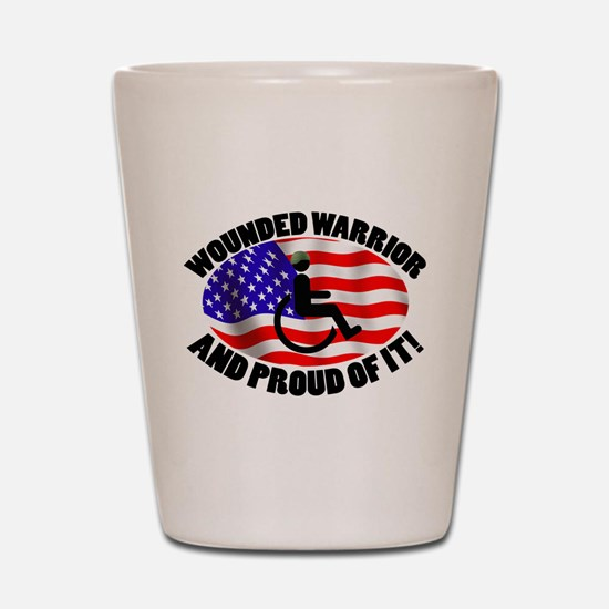 Proud Wounded Warrior Shot Glass