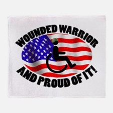 Proud Wounded Warrior Throw Blanket