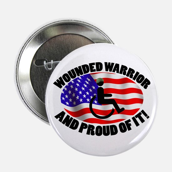 "Proud Wounded Warrior 2.25"" Button"