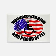 Proud Wounded Warrior Rectangle Magnet