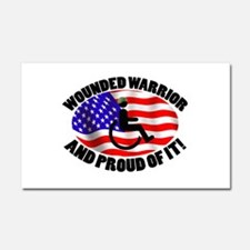 Proud Wounded Warrior Car Magnet 20 x 12