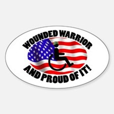 Proud Wounded Warrior Sticker (Oval)