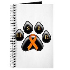 MSBR paw orange ribbon Journal