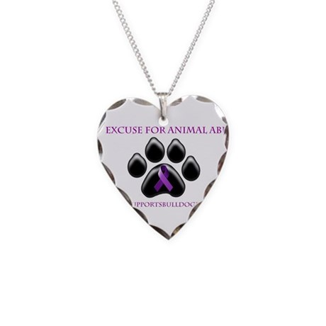 No Excuse For Animal Abuse www Necklace Heart Char