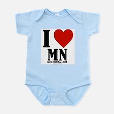 Minnesota Nice I love mn Infant Bodysuit