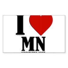 Minnesota Nice I love mn Decal