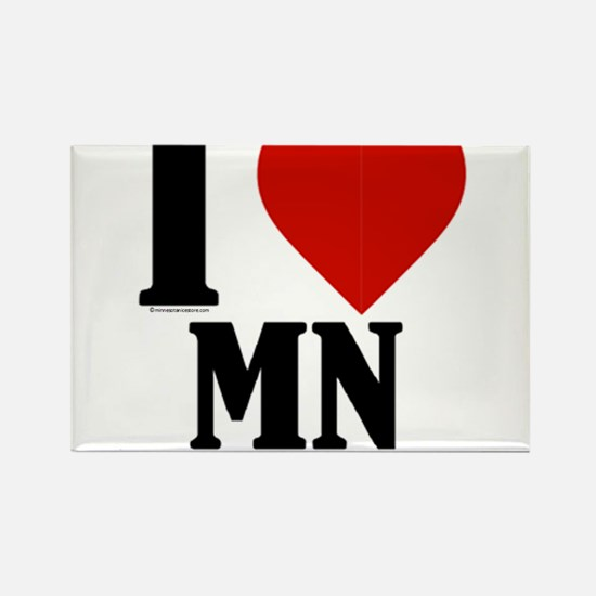 Minnesota Nice I love mn Rectangle Magnet