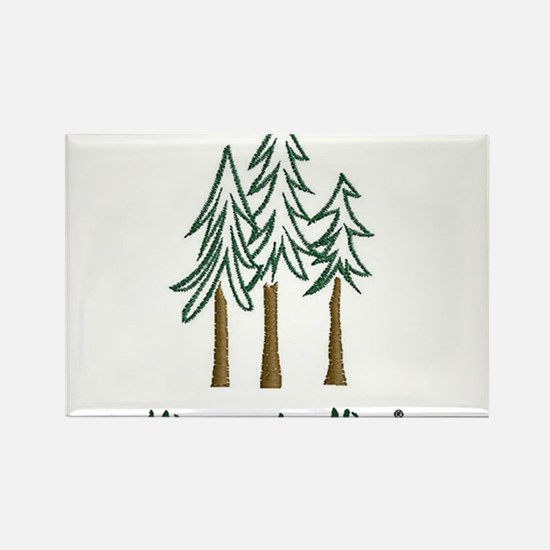Minnesota Nice trees Rectangle Magnet