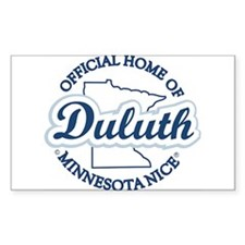 Minnesota Nice Duluth Official Home Decal