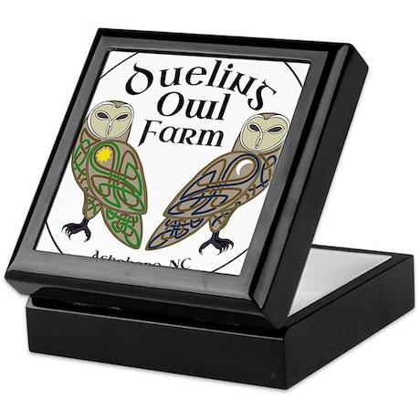 Dueling Owl Farm Logo Keepsake Box