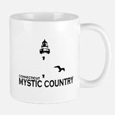 Mystic CT - Lighthouse Design. Mug