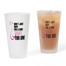 Fight for a Cure Drinking Glass