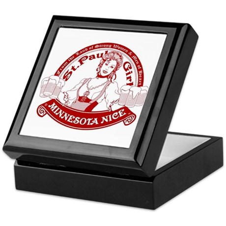 Minnesota Nice st paul girl Keepsake Box