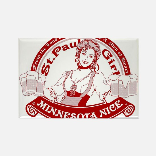 Minnesota Nice st paul girl Rectangle Magnet