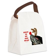 Rudolph the Red Nosed Red Ear Canvas Lunch Bag