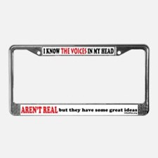 Voices In My Head License Plate Frame