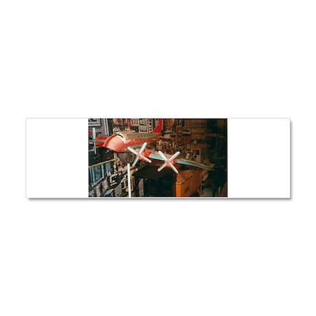 Star Airplanes. Car Magnet 10 x 3