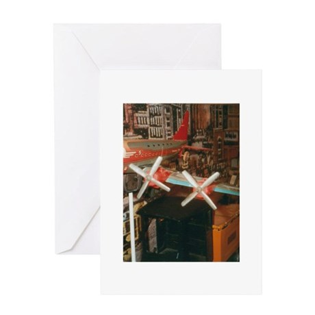 Star Airplanes. Greeting Card