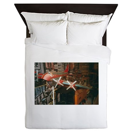 Star Airplanes. Queen Duvet