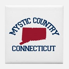 Mystic CT - Map Design. Tile Coaster